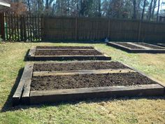 raised garden beds out of railroad ties - Google Search