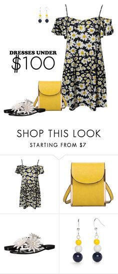 """""""Daisy Dress"""" by lwilkinson ❤ liked on Polyvore featuring Mellow World, Melissa, Kim Rogers and under100"""