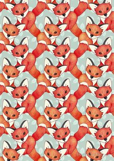 Fox Lattice | Available as T-Shirts & Hoodies, Stickers, iPhone Cases, Samsung Galaxy Cases, Posters, Home Decors, Tote Bags, Prints, Cards, Kids Clothes, and iPad Cases