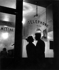 Belleville romance, Paris, 1947  by Willy Ronis
