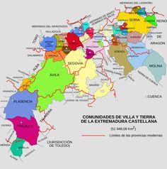 Comunidades de Villa y Tierra - Condado de Castilla - Wikipedia, la enciclopedia libre Spain History, Pamplona, Maps, Oviedo, Zaragoza, Christian Living, Christians, Historia, Earth