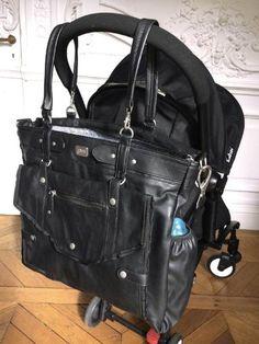 Sac à langer Lady Black, un sac féminin 3 en 1