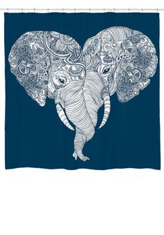 Me and Unite Shower Curtain - Elephant Shower Curtain