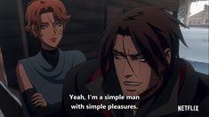 Castlevania Anime, Castlevania Lord Of Shadow, Belmont Castlevania, Manga, Trevor Belmont, Lord Of Shadows, Simple Man, Alucard, Simple Pleasures