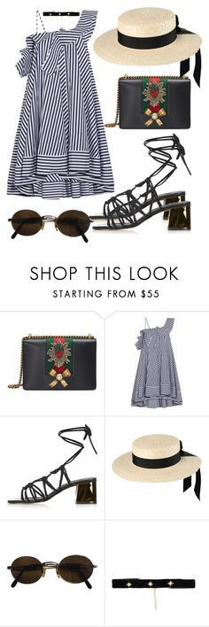"""""""Untitled #930"""" by veronice-lopez ❤ liked on Polyvore featuring Gucci, MSGM, Topshop, Mich Dulce, Moschino and Bartoli"""