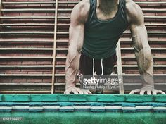 Stock Photo : Low Section Of Man Exercising