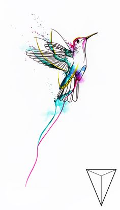 Zonder the slierten adding that - Zonder the slierten adding that You are in the right place about Zonder die slierten eraan Tattoo D - Body Art Tattoos, New Tattoos, Small Tattoos, Tatoos, Bird Drawings, Art Drawings Sketches, Tattoo Mere Fille, Hummingbird Art, Geometric Hummingbird Tattoo
