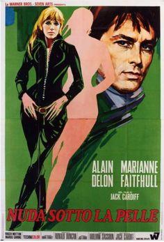 "MP1091. ""Nuda Sotto la Pelle"" French Movie Poster by Ercole Brini (Jack Cardiff 1968) / #Movieposter"