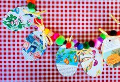 DIY: paas slinger maken met pompoms - DIY easter garland pompoms- http://www.galerie-lucie.nl/
