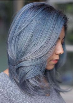 Fantastic Blue Hair Color Shades You Must Try Nowadays | Voguetypes Hair Color Shades, Hair Color Blue, Cool Hair Color, Blue Hair, Lob Hairstyle, Hairstyles Haircuts, Cool Hairstyles, Blonde Lob, Latest Hair Color