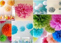 DIY tissue poms.