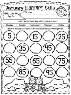 Skip counting by skills to learn, early childhood education, pre k, math Preschool Transitions, Preschool Writing, Kindergarten Math, Teaching Math, Math Practice Worksheets, 1st Grade Worksheets, School Worksheets, Abacus Math, Math Graphic Organizers