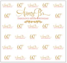 Aunty B's 60th Birthday Step and Repeat Banner 20951 | www.sign11.com