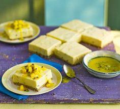 Maracuja (Passion fruit mousse traybake)