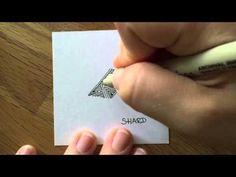 Zentangle: Shard - YouTube