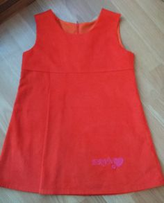 Handmade personalised pinafore dress by Jannette Winstone