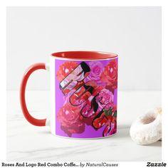 Roses And Logo Red Combo Coffee Mug. Mug