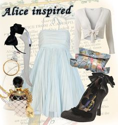 Alice in wonderland inspired fashion trend! a curious outfit for going out and painting the town (or roses) red!