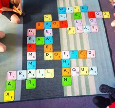 Giant Scrabble game for elementary/primary spelling.