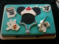 Minnie mouse nurse cake, designed by Sam Lucero, Blue Cake, Little Rock AR