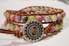 Beaded wrap bracelet Wrap bracelet Beaded by WrapBraceletsbyLynn