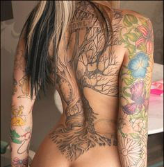 Tattoo #inked girl