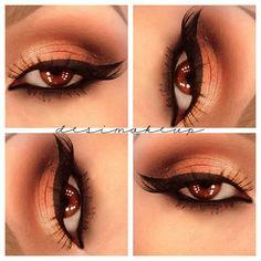 Soft brown Smokey eyes - @desimakeup