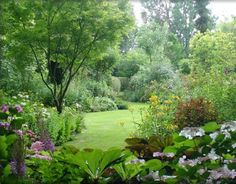 C'est le printemps ! Dès l'arrivée du printemps, nous avons tous hâte de voir refleurir les végétaux qui nous entourent. Prendre soin, progressivement, de son environnement (jardin, terrasse, balcon et rebord de fenêtre) est une question de volonté, et... Backyard Garden Design, Garden Landscape Design, Green Landscape, Backyard Landscaping, Back Gardens, Small Gardens, Outdoor Gardens, Garden Borders, Garden Paths