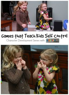 Games that Teach Kids Self Control - Character Development Series -- Happy - Let's Play - Fun - Father God Character Education, Character Development, Emotional Development, Child Development, Language Development, Learning Activities, Preschool Activities, Preschool Behavior, Church Activities