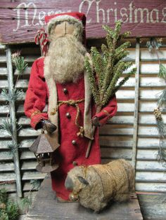 Olde Simply Prim Santa~ Available Dec 9th~  http://1897houseprimitives.blogspot.com/