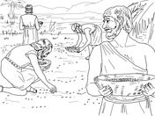 Israelites Water From a Rock Coloring Page