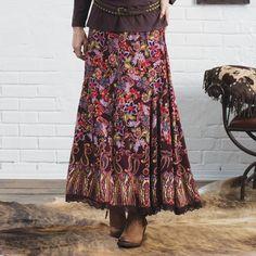 Fearless Prairie Print Maxi Skirt