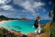 Nikon + AF Fisheye Nikkor ED Redang Island, Terengganu, Malaysia. Tokyo Japan Travel, Japan Travel Tips, China Travel, Bali Travel, Amazing Destinations, Travel Destinations, Redang Island, Malaysia Travel, Nature Artists