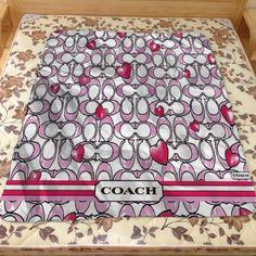 Best Design Coach Love Pattern Custom Blanket