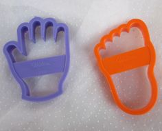 Wilton Hand and Foot Cookie Cutters Footprint Hand Print - Plastic...I used these for Hannah's shower