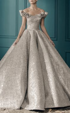 Elle Glitter Tulle Ballgown by MARK BUMGARNER for Preorder on Moda Operandi