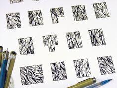 Pattern Filled Lettering by Sasha Prood, via Behance