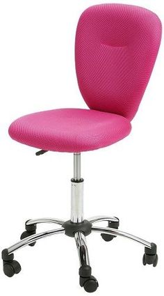 Pink Swivel Chair Adjustable Home Office Receptionist Writer Ladies Chrome Seat in Business, Office & Industrial, Office Equipment & Supplies, Office Furniture Office Set, Home Office, Pink Office, Industrial Office, Office Equipment, Bedroom Loft, Color Rosa, Swivel Chair, Office Furniture