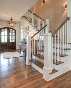 The Post You Have Been Waiting For...Southern Living Design House...Behind The Scene — Providence Design. Looove this entryway and stairwell! #entryway #entrywayideas #agrandentrance