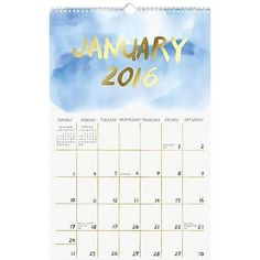 2016 Paper Source Foil Watercolor Calendar