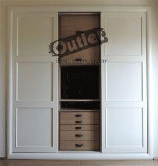 Armarios de Madera Lacados Blancos Baratos Interior Exterior, Closet, Home Decor, Build A Wardrobe, Wooden Cupboard, Interior Doors, White Wood, Flooring, Yurts