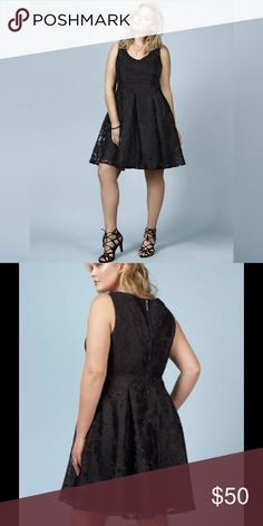 Torrid - NWT 24W Rebel Wilson black lace dress Torrid - NWT 24W Rebel Wilson black lace dress. Absolutely gorgeous dress, perfect for cocktail parties! The zipper on the back is a fun little microphone 🎤 torrid Dresses Midi