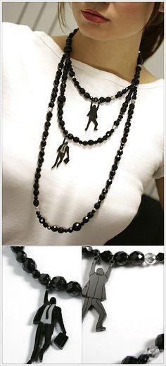 Unique, interesting shrink plastic designs!  ************************************************   Videla - #shrink #plastic #jewelry #hanging #men - tå√