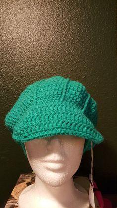 Newsboy beanie paradise newsboy cap woman's hat by katkrogcrafts