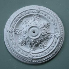 Ornate victorian plaster ceiling rose a full frontal impact