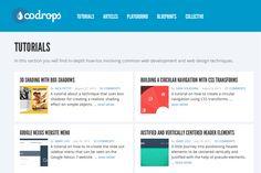 codrops: css tutorials  http://tympanus.net/codrops/category/tutorials/