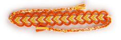 Friendship bracelet style named V Shape with Loops.