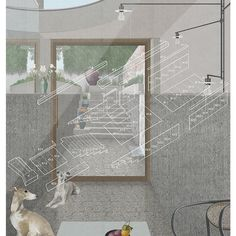 OMMX have remodelled a listed Georgian town house in Islington. The clients wanted a new garden room and described their love of reading whilst listening to . Green Colors, Red Green, Colours, Architecture Drawings, Architecture Details, B Image, Plan Sketch, Collage Illustration, Reading Room