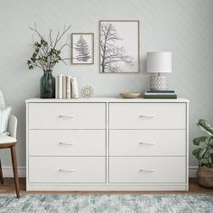 53 Amazing Minimalist Interior Design Tips - About-Ruth Bedroom Dresser Styling, Bedroom Dressers, Bedroom Furniture, Bedroom Decor, Dresser Top Decor, White Dressers, Ikea Dresser, Tall Dresser, Dresser Furniture
