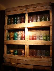I could see mixing two of my favorite things...mason jars with an old pallet.